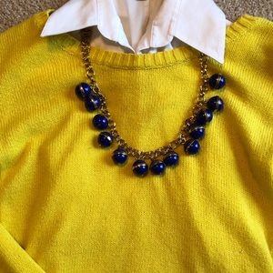 J. Crew statement necklace (blue and gold)